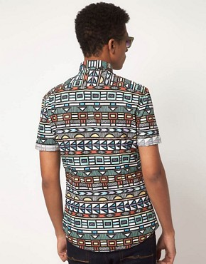 Image 2 ofASOS Shirt With Tribal Print