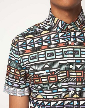Image 3 ofASOS Shirt With Tribal Print