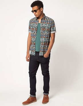 Image 4 ofASOS Shirt With Tribal Print