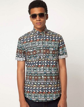 Image 1 ofASOS Shirt With Tribal Print