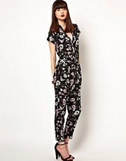 Eleven Paris Jumpsuit in Floral Butterfly Print