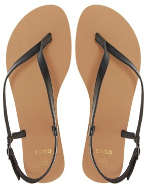 Image 3 ofASOS FINSBURY Toe Thong Flat Sandals