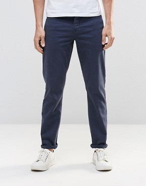 ASOS Stretch Slim Jeans In Dark Blue
