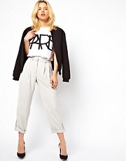 ASOS Trousers with Ankle Tab Detail