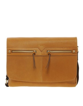 Image 1 ofTed Baker Leather Messenger Bag