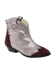 Ganni Glitter Ankle Boots