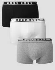 Boss Black 3 Pack Boxer Trunks