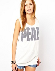 Camiseta sin mangas de punto Peace de See U Soon