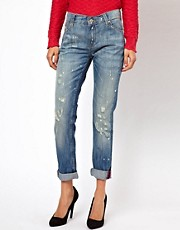 Mango Miranda Distressed Boyfriend Jean