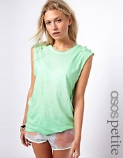 ASOS PETITE Vest Top With Stud Shoulder