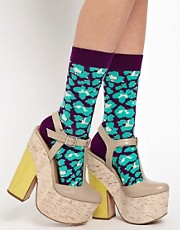 Calcetines con estampado de leopardo de Happy Socks