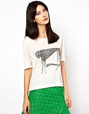 Ostwald Helgason White Cheetah Tee