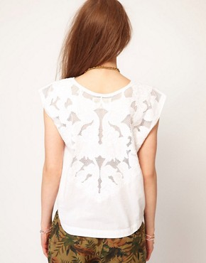 Image 2 ofMaison Scotch White Top With Embroidery