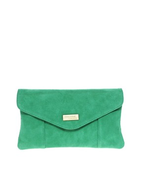 Image 1 ofRiver Island Suede Envelope Clutch Bag