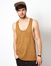 ASOS Vest With Reverse Print And Extreme Racer Back
