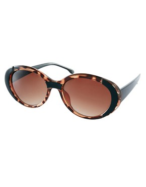 Image 1 ofASOS Mixed Frame Oval Sunglasses