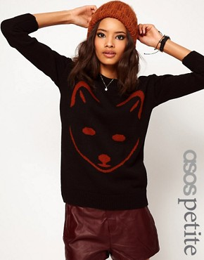 Image 1 ofASOS PETITE Exclusive Fox Jumper