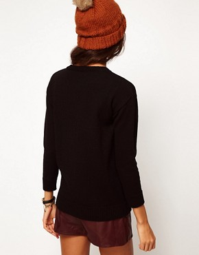 Image 2 ofASOS PETITE Exclusive Fox Jumper