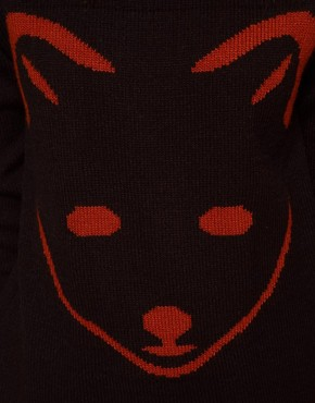 Image 3 ofASOS PETITE Exclusive Fox Jumper