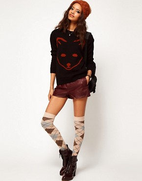Image 4 ofASOS PETITE Exclusive Fox Jumper