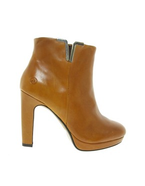 Image 4 ofBronx Leather Heeled Boot with Metal Detail