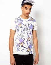 Love Moschino T-Shirt with Flower Print