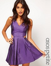 ASOS PETITE Exclusive Dress With Cut Out And Seam Detail