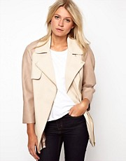 ASOS PU Sleeve Jacket