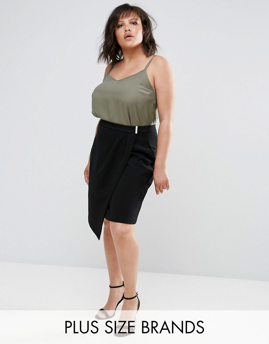 Elvi Black Tulip Skirt - Black