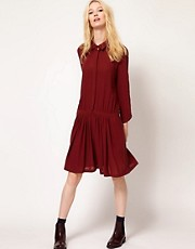 BA&amp;SH Dropped Waist Shirt Dress with Collar Detail