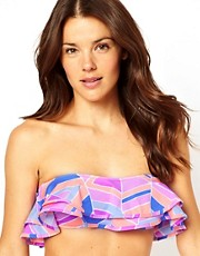 Zinke Kristen Frill Bandeau Bikini Top