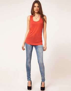 Image 4 ofASOS Seamed Vest in Loose Knit