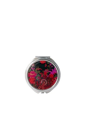 Image 1 ofASOS Exclusive Floral Cherub Print Compact Mirror