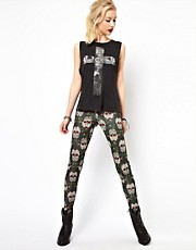 Freak Of Nature Leggings In Sugar Skull Print