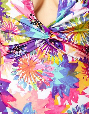 Image 3 ofSunseeker Fiesta Floral Print Deep V One Piece Suit
