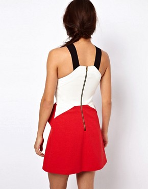 Image 2 ofThree Floor Hot Shot Colour Block Dress With Zip Detail