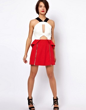 Image 4 ofThree Floor Hot Shot Colour Block Dress With Zip Detail