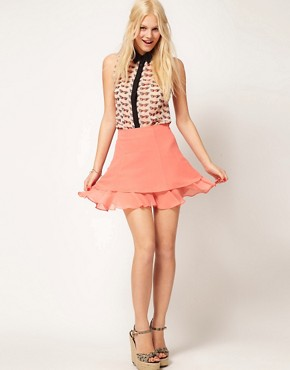 Image 1 ofASOS skater Skirt With Double Layer