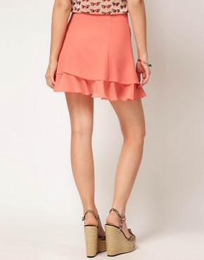 Image 2 ofASOS skater Skirt With Double Layer