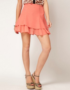 Image 4 ofASOS skater Skirt With Double Layer