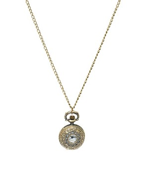 Image 1 ofASOS Chunky Design Pocket Watch Necklace