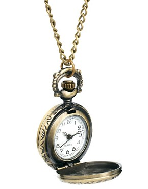 Image 4 ofASOS Chunky Design Pocket Watch Necklace