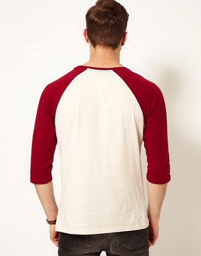 Image 2 ofASOS 3/4 Sleeve T-Shirt With Contrast Raglan Sleeves