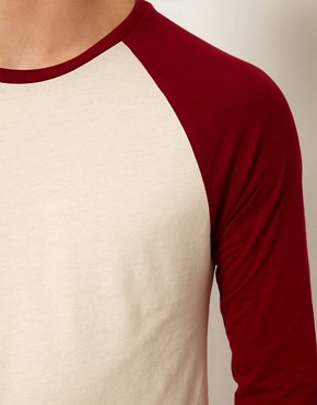 Image 3 ofASOS 3/4 Sleeve T-Shirt With Contrast Raglan Sleeves