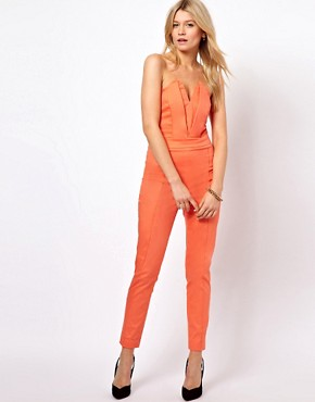 Image 1 ofASOS Jumpsuit With Pleat Bust Origami Detail