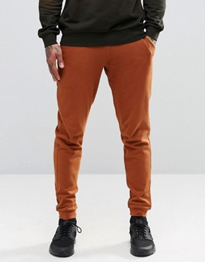 ASOS Skinny Joggers In Brown