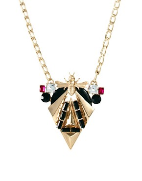 Image 1 ofASOS Midnight Bug Necklace