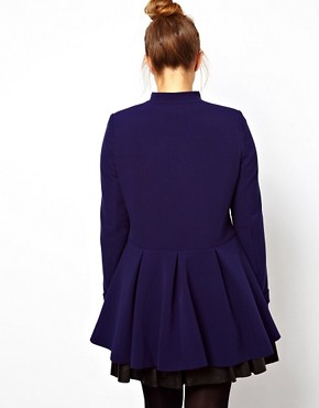 Image 2 ofASOS CURVE Coat With Cute Bow Front