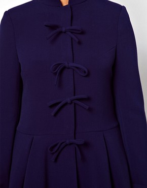 Image 3 ofASOS CURVE Coat With Cute Bow Front