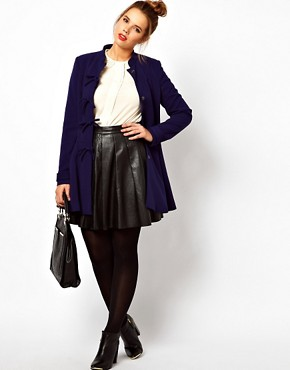Image 4 ofASOS CURVE Coat With Cute Bow Front